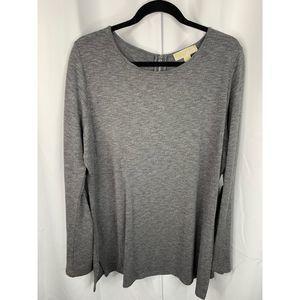 Michael kors XL gray long sleeve blouse